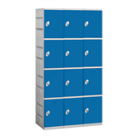 94000 Series Plastic Lockers - Four Tier - 3 Wide