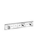 RainSelect Thermostat for concealed installation for 3 functions with integrated shower holder 15356400
