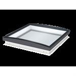 fixed glass rooflight w. curved glass cfu isu1093