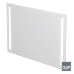 mirror with 2 vertically integrated led light bands and defogger 140 x 90cm