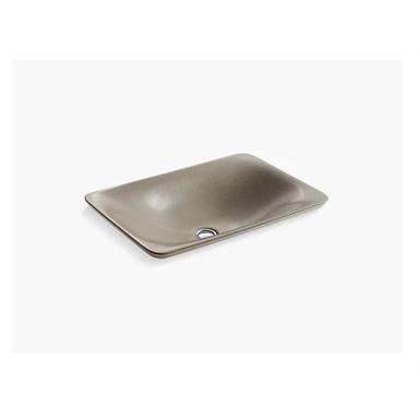 shagreen carillon™ rectangle wading pool™ vessel bathroom sink