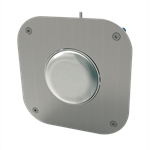 pneumatic anti-vandal flush plate
