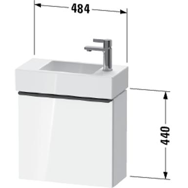 d-neo waschtischunterbau wandhängend de4219