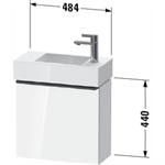 de4219 d-neo vanity unit wall-mounted