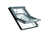 roto centre-pivot roof window designo r6 pvc tronic
