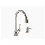 barossa™ touchless pull-down kitchen faucet with soap/lotion dispenser