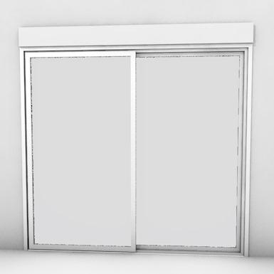 double sliding door with shutter