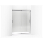 """levity® sliding shower door, 74"""" h x 56-5/8 - 59-5/8"""" w, with 3/8"""" thick crystal clear glass"""