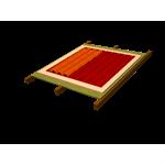 Sistema Onduline Subtelha DRS para forro de madeira e acabamento em telha de canudo