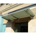 CRL Universal Wall Mounted Glass Awning Brackets (GAB series) Glass Canopy