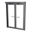 Space saving double swing door - Balance door system
