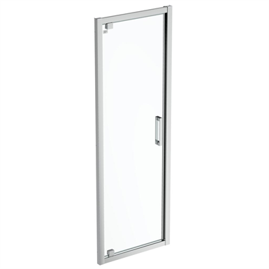 connect 2 pivot door  70 clear glass bright silver finish
