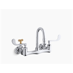 triton® shelf-back double wristblade lever handle sink faucet with loose-key stops