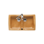 BEVERLY 500 Double bowl kitchen sink