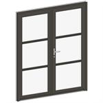 porte d'entrée collection clarté - 2 vantaux égaux