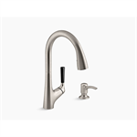 malleco® pull-down kitchen sink faucet with soap/lotion dispenser