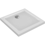 connect shower tray 80x80 white waste twds wall