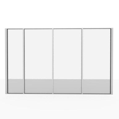 cloison aluminium démontable vitrée