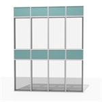 aluminum facade frame - 76 % to 100 % transparent