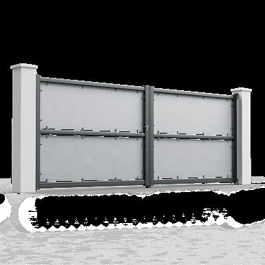 micro-perforated swinging gate