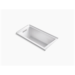 """underscore® rectangle 60"""" x 30"""" alcove bath with integral flange and left-hand drain"""