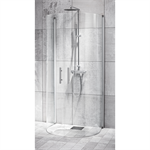 U-shower wall