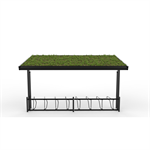 KAPPA Cycle Shelter 12,5m 24 bicycles -Sedum roof