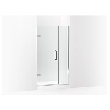 """Components™ Frameless pivot shower door, 71-9/16"""" H x 39-5/8 - 40-3/8"""" W, with 3/8"""" thick Crystal Clear glass"""