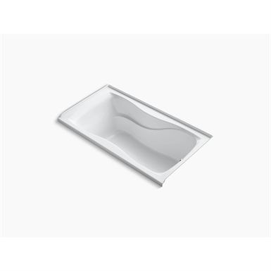 """k-1219-r-0 hourglass® 60"""" x 32"""" alcove bath with integral flange and right-hand drain"""