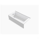 """entity™ 60"""" x 30"""" alcove bath with integral apron, integral flange and left-hand drain"""