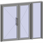 grand trafic doors - anti finger pinch version - double inward opening with right fixed