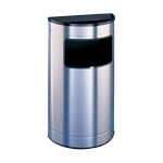 Half round ash and litter bin- inox - inner bucket