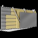 doppelte aussenfassade aus stahl verlegung v perforierte platten abstandhalter verbunden mit dämmung