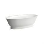 THE NEW CLASSIC Freestanding bathtub, made of solid surface material Sentec