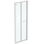 CONNECT 2 B/FOLD 75 UNHAND DOOR IC WHT CLEAR
