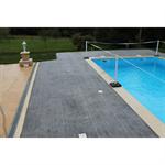 béton imprimé - stamped concrete - chryso®duraprint - bois de cèdre