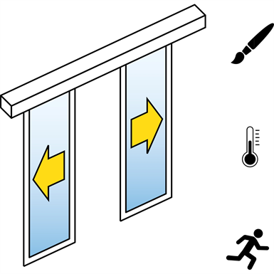 Automatic Sliding Door  (Energy-Efficiency) - Bi-parting - No side panels - On wall - SL/PST