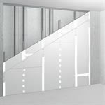 sw75/105; ei60; 32db; austria; shaft wall with single metal stud frame, double-layer cladding