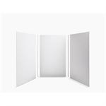 "choreograph® 60"" x 60"" x 96"" shower wall kit, brick texture"