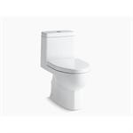 reach® one-piece compact elongated dual-flush toilet with top-mount actuator and skirted trapway