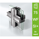 Schüco Window AWS 75 WF.SI+, Inward opening