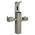 Model 3612, Modular Outdoor Bottle Filler and Double Drinking Fountains