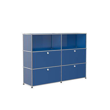 double storage with open display, customisable