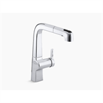 """k-6331 evoke® single-hole kitchen sink faucet with 9"""" pull-out spout"""