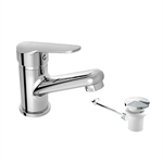 ARLAN Single lever basin mixer with automatic waste