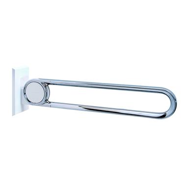 Cavere Chrome Barre d'appui rabattable vario amovible L = 850 avec platine de fixation