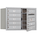 3700 Series Recessed Mounted 4C Horizontal Mailboxes - Front Loading - 5 Door High Units