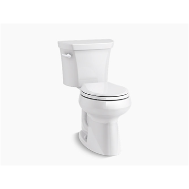 Highline® Comfort Height® Two-piece round-front 1.28 gpf chair height toilet