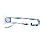 cavere chrome suspendable lift-up support vario, suspendable, with e-button, l = 600, with base plate noc(both), wc and call