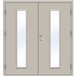 Steel Door SDE4210 GS2M - Double Equal